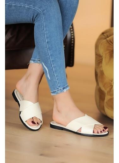 Pembe Potin A102-20 Kadın Sandalet A102-20 Bej